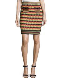 M Missoni Knit Patch-pocket Skirt - Lyst