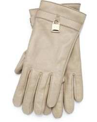 Patrizia Pepe Soft Leather Gloves with Wool Lining - Lyst