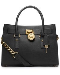 Michael Kors Hamilton Saffiano Leather Medium Satchel - Lyst