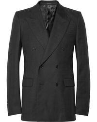 Alexander McQueen Slimfit Wooltwill Doublebreasted Blazer - Lyst