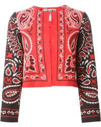 Moschino Paisley Print Jacket - Lyst