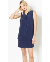 Equipment Sleeveless Lucida Dress blue - Lyst