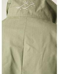 Thamanyah - Disclocated Shoulder Roll-Neck Coat - Lyst