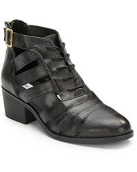 Steve Madden Area Cutout Leather Bootie - Lyst
