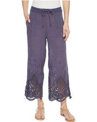 XCVI - Tangerine Embroidered Gauze Pants - Lyst