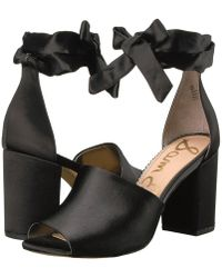 63b65cfe845d2 Lyst - Sam Edelman Odele Gingham Canvas Sandals in Black