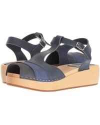 Swedish Hasbeens - 90s T-strap Wedge - Lyst