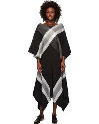 Limi Feu - Big Plaid Flared Short Sleeve Dress - Lyst