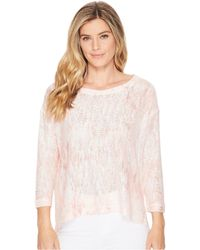 Nally & Millie - Coral Marble Print Top - Lyst