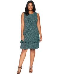 MICHAEL Michael Kors - Plus Size Leopard Sleeveless Flounce Dress - Lyst