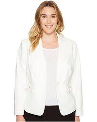CK Calvin Klein - Plus Size Single Button Jacket With Hardware - Lyst