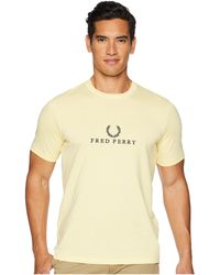 39b5417c5e Lyst - Fred Perry Embroidered T-shirt in Blue for Men