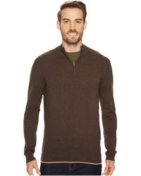 Agave - Latitude Long Sleeve 1/4 Zip 14gg Sweater - Lyst