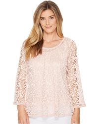 Nally & Millie - Lace Top Set W/ Tank Layer - Lyst