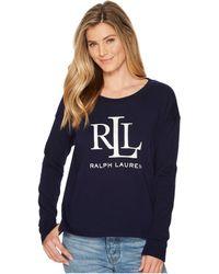 Lauren by Ralph Lauren - Lrl French Terry Sweatshirt - Lyst