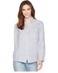 ce47d934f7e Allen Allen - Long Sleeve Stripe Shirt (white) Long Sleeve Pullover - Lyst