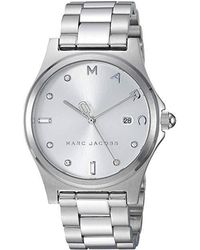 272e1adb3 Marc By Marc Jacobs Women's Henry Dinky Silver Metallic Leather ...