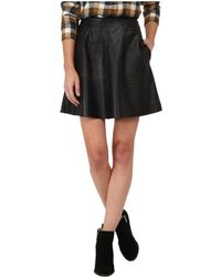 Lucky Brand - Leather Flirty Skirt - Lyst