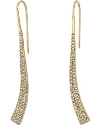 Lauren by Ralph Lauren - Minimal Metal And Pave Curved Linear Earrings - Lyst