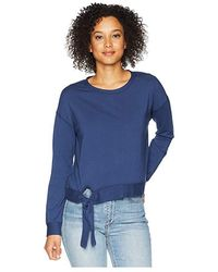 Mod-o-doc - Cotton Modal Spandex French Terry Drop Shoulder Sweatshirt With Tie (new Navy) Sweatshirt - Lyst