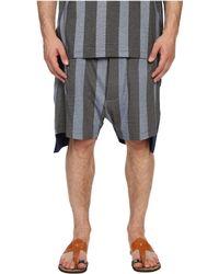 Vivienne Westwood - Printed Stripe Jersey Twist Seam Shorts - Lyst
