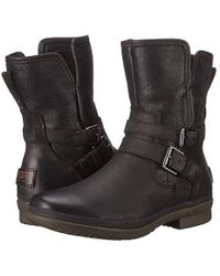 UGG - Simmens (black Leather) Boots - Lyst