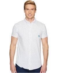 U.S. POLO ASSN. - Short Sleeve Slim Fit Fancy Shirt - Lyst
