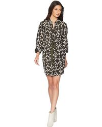 Juicy Couture - Soft Woven Abbey Floral Silk Shirtdress - Lyst