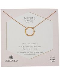 Dogeared - Infinite Love, Small Crystal Halo Necklace - Lyst