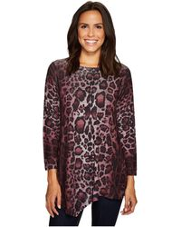 Nally & Millie - Leopard Print Asymmetric Tunic - Lyst