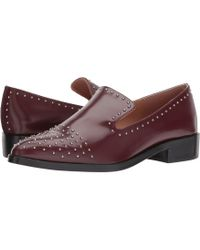 bf2e3857cbd Lyst - Sigerson Morrison Edna Leather Stud Loafers in Black - Save 70%