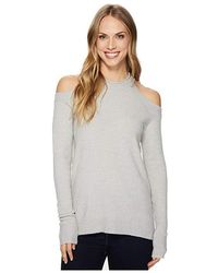 70ab1a7abd2e37 Sanctuary - Gretchen Bare Sweater (heather Sterling) Sweater - Lyst