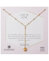 Dogeared - Live In Life, Puffy Heart Y-necklace - Lyst