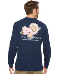 Vineyard Vines - Long Sleeve Turkey Whale Pocket Tee - Lyst