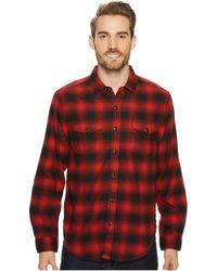 True Grit - Redford Plaid Long Sleeve Two-pocket Shirt With Chambray And Stitch Detail - Lyst