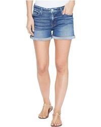 Hudson   Asha Mid-rise Cuffed Five-pocket Shorts In Reigning   Lyst