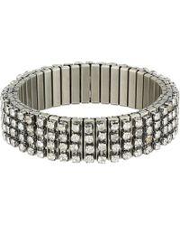 Steve Madden - Rhinestone Bar Stretch Bracelet - Lyst