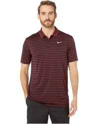 c3025ad1 Nike - Dri-fittm Mini-stripe Victory Polo - Lyst