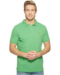 U.S. POLO ASSN. - Solid Cotton Pique Polo With Small Pony - Lyst