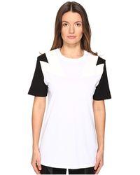 Neil Barrett - New Modernist T-shirt Jersey + Eco Suede - Lyst