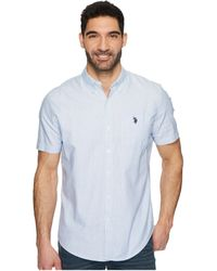 U.S. POLO ASSN. - Short Sleeve Classic Fit Fancy Shirt - Lyst