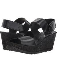 33f3d8539f5e Pedro Garcia - Fedra 965 (black Castoro Ranchero) Women s Wedge Shoes - Lyst