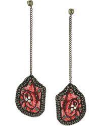 Steve Madden - Casted Floral Post Earrings - Lyst