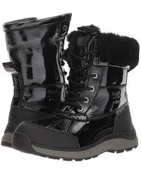 2178dd5cfe5 UGG Adirondack Patent Boot Iii (black) Women's Cold Weather Boots in ...