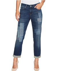 NYDJ - Boyfriend Jeans W/ Laser Patch And Embroidery In Horizon - Lyst