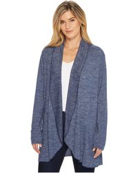 Mod-o-doc - Lightweight Heather Sweater Knit Princess Seamed Cardigan - Lyst