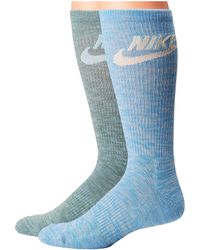 Nike - Sportswear Blue Label Advance Graphic 2-pair Pack Crew Socks - Lyst