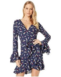 35b996e9fb2 Bebe - Denise Ruffle Wrap Dress (lipsmacker 1) Dress - Lyst