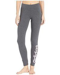 0f6efa6ef7089 adidas Linear Logo Leggings in Gray - Lyst