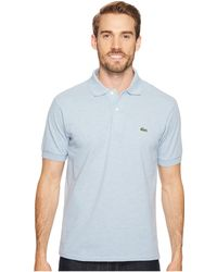 Lacoste | Short Sleeve Classic Fit Chine Pique Polo Shirt | Lyst